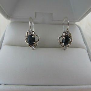 Jewelry - Vintage Sterling Slv Natural Blue Sapphire Fili